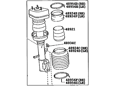 NEW GENUINE LEXUS RX300 RX330 RX350 RIGHT FRONT SHOCK